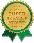 """2013 Angie's List Super Service Award"" is locked 2013 Angie's List Super Service Award"